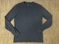 J Crew Adult Mens Medium Tall Broken In Long Sleeve Tee T Shirt Blue