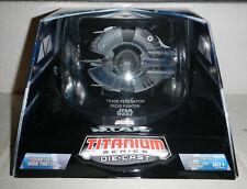 Nib Star Wars Titanium Series Diecast Federation Droid Fighter w/ Display Case