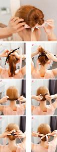 Ruban satiné pour coiffure chignon facile magique couleur au choix pinup rétro