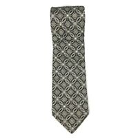Robert Talbott Best of Class Mens Necktie Tie Black Silver Grey Geometric 59""