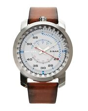 NIB DIESEL DZ1749  Rig Men's Leather Watch MSRP $ 140.00