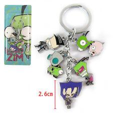 Invader Zim Alien Robot Dog Suit Girl Characters 5 Pendant Keyring Keychain