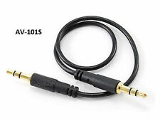 1ft 3.5mm Stereo Male to Male Slim Connector (iPhone) Audio Cable, AV-101S
