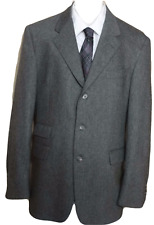 Men's Burberry London Gray Wool 3 Button Sport Coat Size 40R