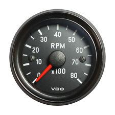 """VDO Cockpit International Tachometer Gauge 8000 RPM 52mm 2"""" 12V 333-035-018G"""