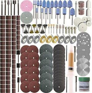 217Pcs Rotary Tool Accessories Kit Dremel Cutting Polishing Attachment Disc Bits