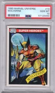 1990 IMPEL Marvel Universe Wolverine #10 PSA 10 LOW POP W10