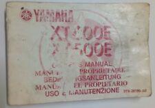 USO MANUTENZIONE MANUALE YAMAHA XT600E XT500E XT 500 600 E 3TB-28199-A0 1989