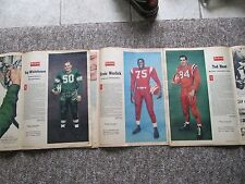THREE 1958 CFL Weekend Magazine Photos. COMPLETE MAGAZINES!