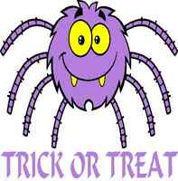 30 Custom Purple Trick Or Treat Spider Personalized Address Labels