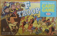vintage 1965 IDEAL F TROOP TV mini board Card Game