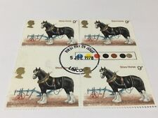 GB 1978 Horses SG1063 9p stamp Gutter pairs traffic light