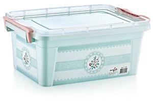 Blue / Pink Storage Box with Locking Lid Multipurpose | 20L 15L |  Quality Box
