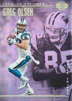 2018 Panini Illusions Football #65 Greg Olsen Wesley Walls Carolina Panthers
