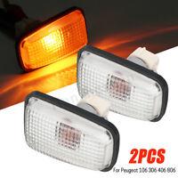 2x 55W Side Marker Indicator Light Repeater Lamp For Peugeot 106 306 406 632567
