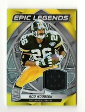 ROD WOODSON NFL 2019 PANINI SPECTRA EPIC LEGENDS MATERIALS #/99 (STEELERS)