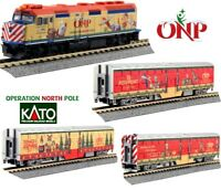 New Kato N Scale Train 4 Unit Set Operation North Pole Christmas 106-2015