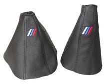 """Gear & Frein à Main Gaiter Pour BMW Série 5 E39 1995-03 cuir """"M-POWER LOGO"""""""