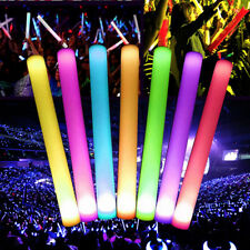 12PCS LED Flashing Light Effect Sticks Cool Changing Foam Baton Strobe Party New