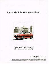 PUBLICITE ADVERTISING 025  1995  LANCIA  DELTA  1.6