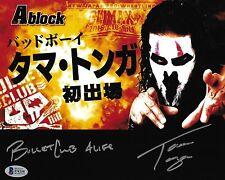 Tama Tonga Signed 8x10 Photo BAS COA New Japan Pro Wrestling Bullet Club NJPW G1