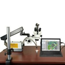 Omax 2.1X-270X Stereo Microscope+Articulat Arm Stand+Cold Light+3.2Mp Usb Camera
