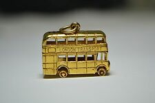 9ct Gold Double Decker Bus Charm