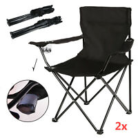 2x Portable Lightweight Folding Camping Chair Ultra-Light Outdoor Fishing Seat