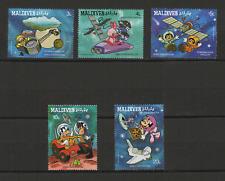 Walt Disney Maldives 5 timbres neufs 1987 /T3472