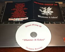 action group 28 whatever it takes cd oi isd skinhead punk rock o rama 9/200