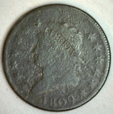 1809 Classic Head Copper Large Cent Early Penny Type Coin S280 Variety YG M1