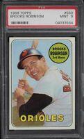 1969 Topps #550 Brooks Robinson Orioles HOF Card - PSA 9 - MINT - 04033564 - SCA