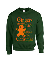 Gingers Are For Life Not Just For Christmas Xmas Jumper Funny Sweatshirt