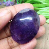 Amethyst Worry Stone Crystal Massage Beaty Palm Thumb Stone Healing Gemstone