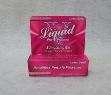 Liquid V Stimulating Gel For Women .07 Clitoris Climax Warm Tingling Travel Size