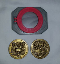 Mighty Morphin Power Rangers Belt Buckle w/2 Coins ~1995 Saban Bandai