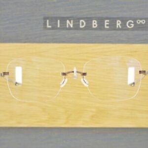 LINDBERG TITANIUM 3STAR U12 MATTE BROWN STRIP RIMLESS EYEGLASSES FRAMES DENMARK