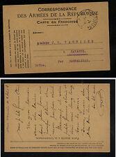 France  military  postal  card  used        KL0501