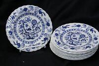 "Johnson Bros Blue Nordic Bread Plates 6.125"" Lot of 8 England"