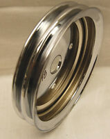 CHROME CRANK PULLEY DUAL DOUBLE BELT GROOVE SPECTRE 4398 SBC CHEVY 1955-1969
