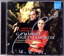 Nuria RIAL Signiert HANDEL Duetti Amorosi Lawrence ZAZZO CD Ademto Arminio Serse
