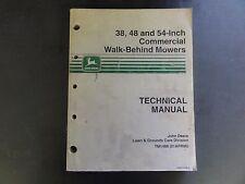 John Deere 38,48 & 54-Inch Commercial Walk-Behind Mowers Technical Manual TM1488
