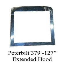 Peterbilt 379 Extended Hood Grille Surround, Stainless Steel, 4 piece set