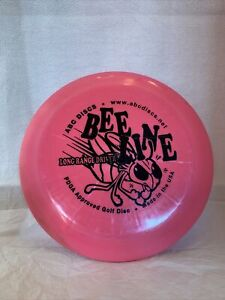 ABC Discs BEE LINE Long Range Driver PDGA Approved Golf Disc Neon Pink 174 grams
