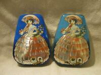 VTG George W Horner England Boy Blue Toffees Victorian Girl & Dog Tin Candy Cans