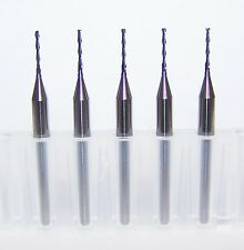"(5) 0.80mm (.0315"") 2 FLUTE MICRO CARBIDE ENDMILLS Kyocera EXTRA LONG FLUTE"