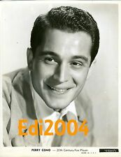PERRY COMO Vintage Original Photo & Autograph Card  Sexy Early Star Singer #2