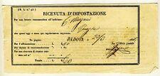 15508- Lombardo Veneto, ricevuta d'impostazione Padova, 1853
