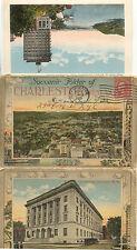 ETATS-UNIS USA CHARLESTON W VA souvenir folder of stamp 1926