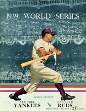 1939 WORLD SERIES PROGRAM PHOTO,YANKEES VS REDS YANKEES WIN 4 GAMES TO 8x10
